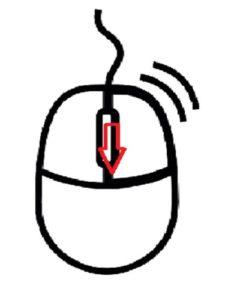 パソコンマウス文字表示