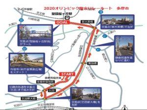 2020東京オリンピック聖火リレー 多摩市ルート