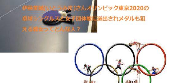 伊藤美誠 卓球選手